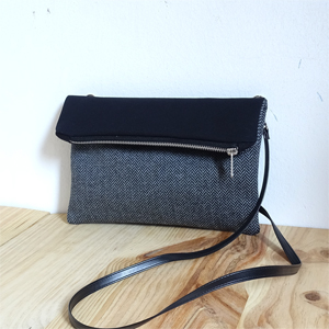 Herringbone Fold Over Bag