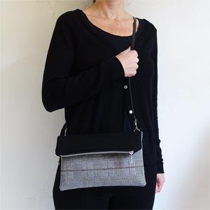 Squares Fold Over Bag