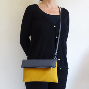 Mustard Fold Over Bag