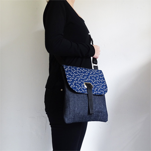 Denim Dragonflies crossbody bag