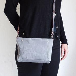 Gray mini bag
