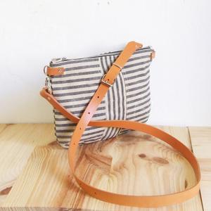 Striped mini bag