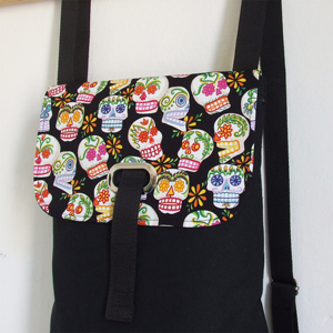 Mexica skulls backpack