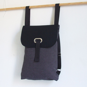 Black upholstery backpack