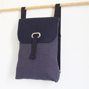 Blue upholstery backpack
