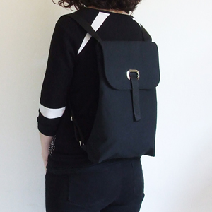 All black backpack