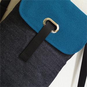 Mochila tejana azul