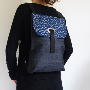 Denim dragonflies backpack