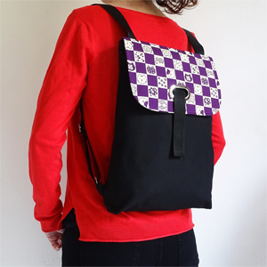 Purple cats backpack