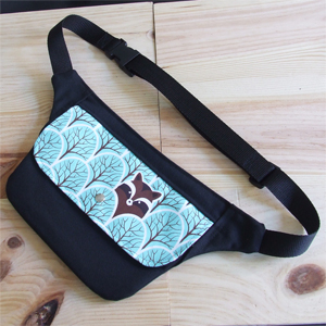 Forest with raccoon hip bag