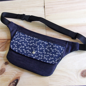Dragonflies denim hip bag