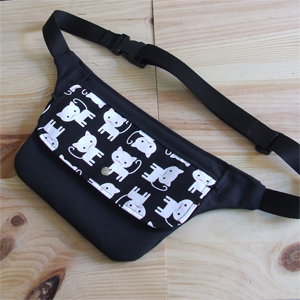 Cat hip bag