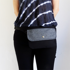 Herringbone hip bag