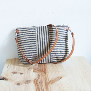 Striped small bag